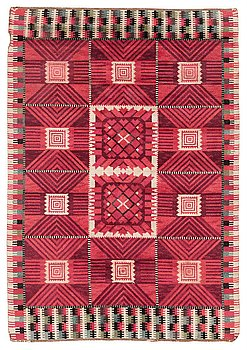 """201. Barbro Nilsson, A CARPET, """"Nellicka"""", knotted pile, ca 228 x 158,5 cm, signed AB MMF BN."""