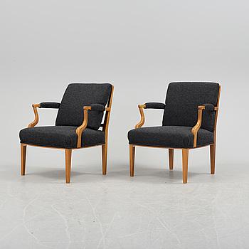 JOSEF FRANK, fåtöljer, ett par, modell 969, Firma Svenskt Tenn.