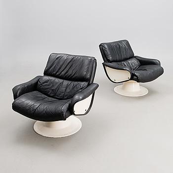 "A pair of 1970s ""Saturnus"" lounge chair for Haimi, Finland."