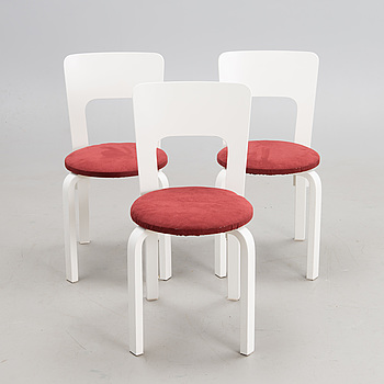 ALVAR AALTO, A set of three 21st century chairs model A66 for Artek.