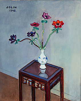 EINAR JOLIN, EINAR JOLIN, oil on canvas, signed and dated 1948.