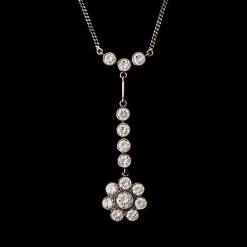 HALSSMYCKE, briljantslipade diamanter, 18K vitguld. A. Tillander 1989.