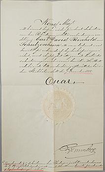 KUNGLIGA AUTOGRAFER, 4 brev, 1800-tal.