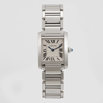 CARTIER, Tank Francaise, wristwatch, 25,35 x 20,3 mm,