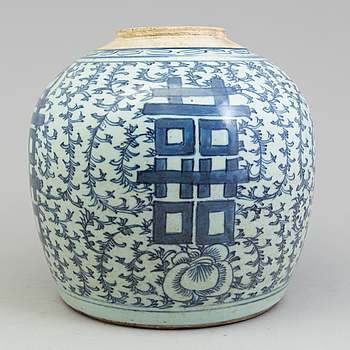 KRUKA, porslin. Qingdynastin, 1800-tal.