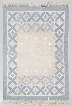 MATTA, rölakan, ca 243 x 166,5 cm, signerad UP, Sverige omkring 1900-talets mitt.