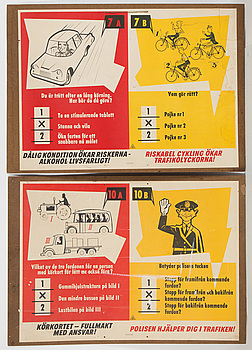 Two commercial poster for driving license, 1950/60s, Ljunglöfs, Stockholm.