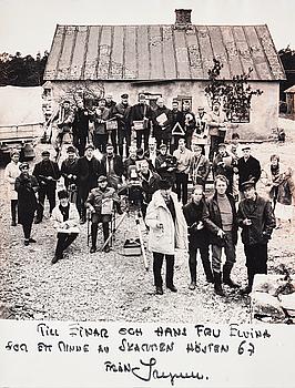LENNART NILSSON, fotografi med copyrightstämpel a tergo. Vintage. Med gåvodedikation från Ingmar Bergman.