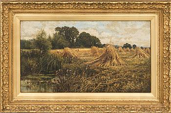 CLAUDE HAYES, olja på duk signerad och daterad 1897.