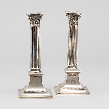 LJUSSTAKAR, ett par, K. Andersson Stockholm 1909 (?) silver.