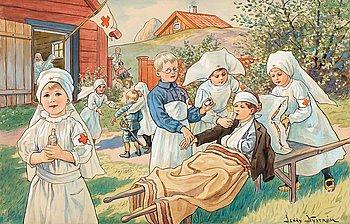 """400. Jenny Nyström, """"Röda korset"""" (The Red Cross)."""