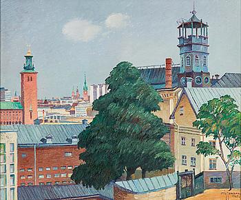 STIG JONZON, olja på pannå. Signerad och daterad 1967.