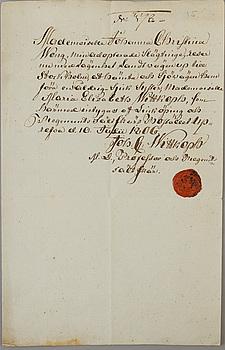 AUTOGRAFER/BREV, Sverige, 17/1800-tal.