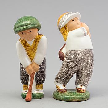 LISA LARSON, figuriner, ett par, stengods, Gustavsberg.