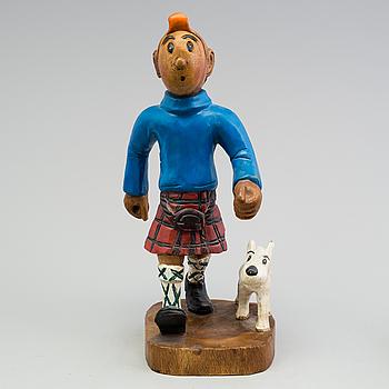 TRÄFIGUR, Tintin och Milou, 1900-talets andra hälft.