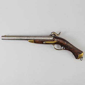 SLAGLÅSPISTOL, för kavalleriet, m/1850, kontrollstämplad 1852, Husqvarna Gevärsfaktori.