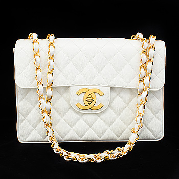 "VÄSKA, ""Jumbo Single Flap Bag"", Chanel, 1994-1996."