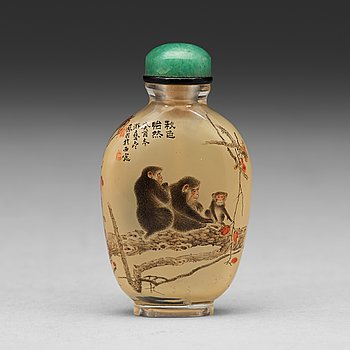 603. A chinese snuff bottle, 20th Century.