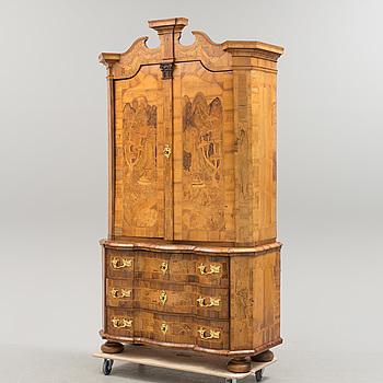 A mid 18th century Geman walnut cupboard.