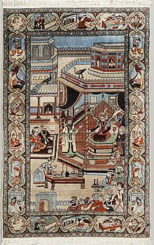 A pakistani rug, old, 228 x 140 cm.