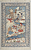 An isfahan rug, old, 160 x 104 cm.