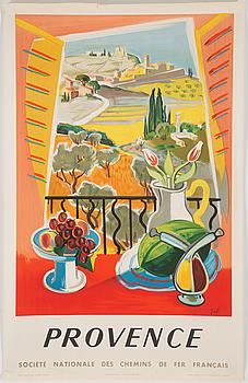 FRANSKA LITOGRAFISKA TURISTAFFISCHER, 2 st, S.N.C.F., daterade 1953 och 1954.