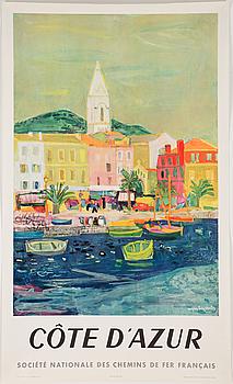 FRANSKA LITOGRAFISKA TURISTAFFISCHER, 2 st, S.N.C.F., daterade 1953 och 1956.
