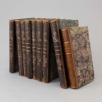 J.A HAZELIUS samt B. VON SCHINKEL, nio böcker. 1836 och 1855.