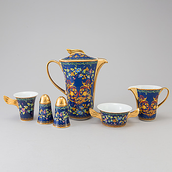 "VERSACE, mat- och kaffeservis, 31 delar, porslin, ""Gold Ivy"", Rosenthal, 1990-tal."