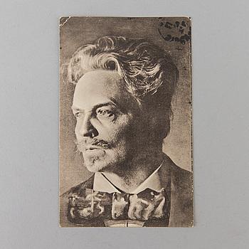 AUGUST STRINDBERG, brevkort.