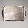 Bricka, silver, henrik tallberg, st:petersburg 1827,