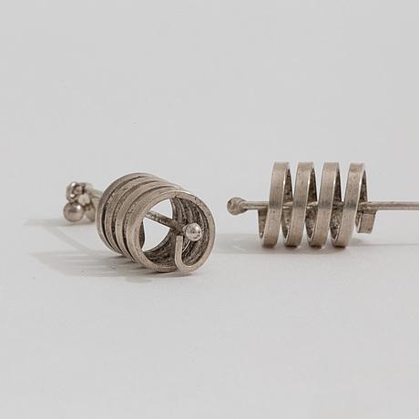 A pair of earrings by waldemar jonsson.