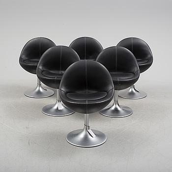 "STOLAR, 6 st, ""Venus"" Johansson Design, 1900/2000-tal."