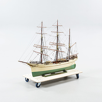 An early 20th century model of the ship 'Bohus'.