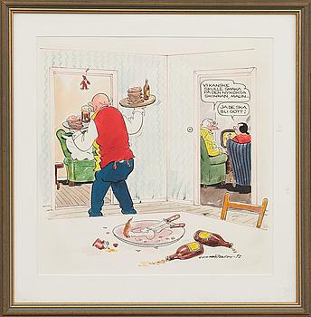GUNNAR PERSSON, akvarell signerad och daterad 92.