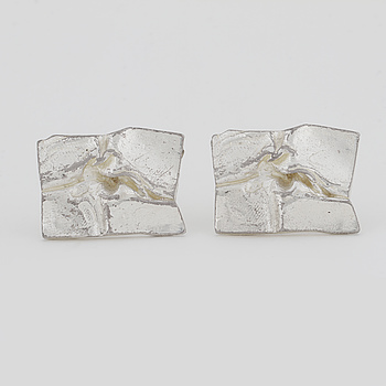 LAPPONIA, A pair of cuff links by Björn Weckström, Lapponia.