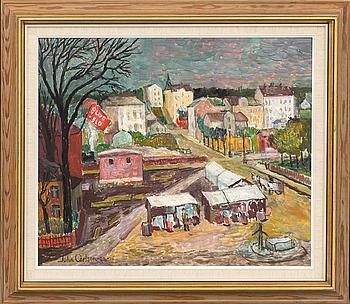 JOHN CARLSON, olja på pannå, signerad och daterad -06-76.