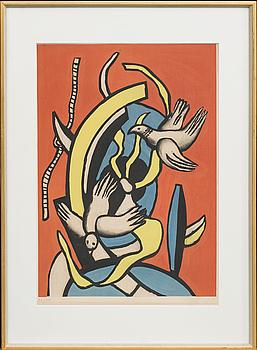 FERNAND LÉGER, efter, färglitografi, stämpelsignerad, numrerad 36/300.