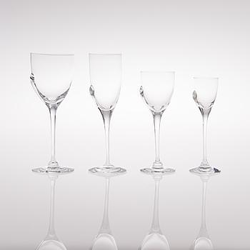 "HEIKKI ORVOLA, A set of ""Taika"" glassware, 11 pcs, Taika"", Nuutajärvi, 1980s."