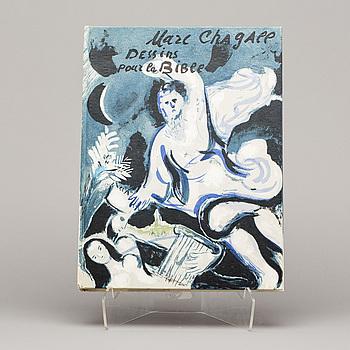 """MARC CHAGALL, bok, """"Dessins pour la bible"""", Verve vol X, no 37-38. Paris 1960."""