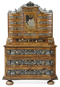 774. An 18th century German cupboard (extensive alterations, additions).