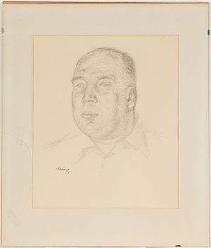 EERIK HAAMER, teckning, signerad och daterad - 53.