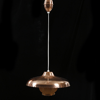 TAKLAMPA, 1900-talets andra hälft, total höjd 77 cm.