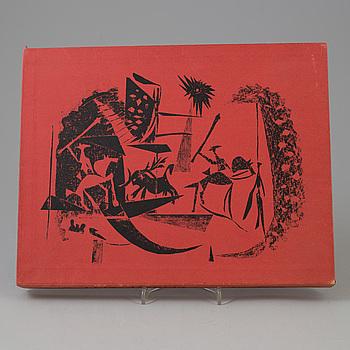 """PABLO PICASSO, bok, """"A los toros avec Picasso"""" med 4 litografier, ej signerade.Utgiven av André Sauret, Monte Carlo 1961."""