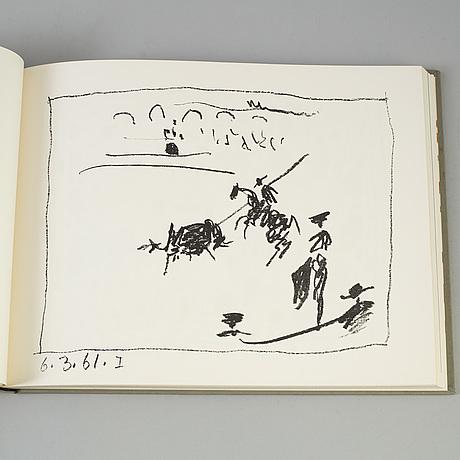 """Pablo picasso, book, """"a los toros avec picasso"""", published by andré sauret, monte carlo 1961."""