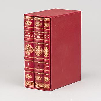 "BÖCKER 3 vol ""Swenska fjärilar ordo lepidoptera"" Wihelm von Wright faksimilutgåva 89/1699 1989 René Coeckelbergs förlag."