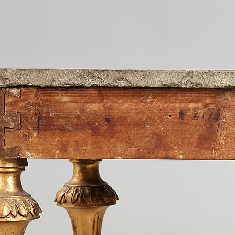 A gustavian late 18th century console table