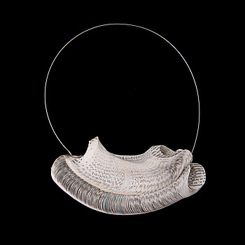 NECKLACE, paper, steel wire. 2014.