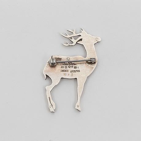 A silver brooch by wiwen nilsson, lund, 1959