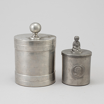 JARS, 2, pewter, one of wich GAB, Stockholm, 1934.